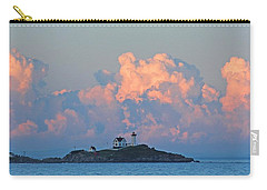 Towering Clouds Over Nubble Lighthouse York Maine Carry-all Pouch