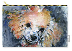 Toy Poodle Carry-all Pouch by John D Benson
