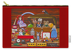 Carry-all Pouch featuring the painting Toys In The Attic by Jennifer Lake