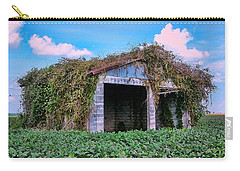 Carry-all Pouch featuring the photograph Tractor Shack by Victor Montgomery