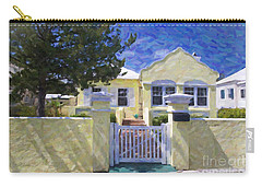Carry-all Pouch featuring the photograph Traditional Bermuda Home by Verena Matthew