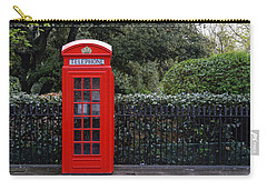Traditional Red Telephone Box In London Carry-all Pouch