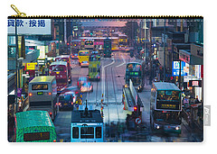 Traffic On A Street At Night, Des Voeux Carry-all Pouch