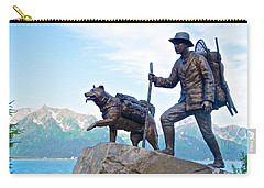Trail Blazers Sculpture For 2012 Iditarod Beginning At Mile 0 In Seward-ak Carry-all Pouch