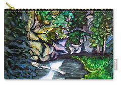 Trail To Broke-off Carry-all Pouch by Lil Taylor
