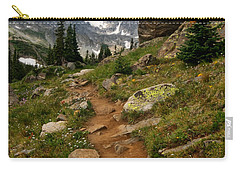 Carry-all Pouch featuring the photograph Trail To Lake Isabelle by Ronda Kimbrow