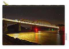 Train Lights In The Night Carry-all Pouch by Miroslava Jurcik