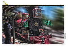 Train Ride Magic Kingdom Carry-all Pouch by Thomas Woolworth