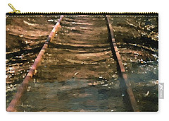 Train Track To Hell Carry-all Pouch by RC deWinter