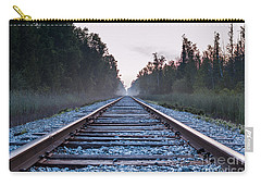 Carry-all Pouch featuring the photograph Train Tracks To Nowhere by Patrick Shupert