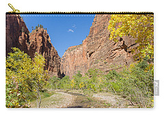 Carry-all Pouch featuring the photograph Tranquil Canyon Scene by John M Bailey