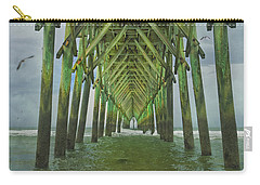 Tranquil Topsail Surf City Pier Carry-all Pouch by Betsy Knapp