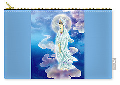 Carry-all Pouch featuring the photograph Tranquility Enabling Kuan Yin by Lanjee Chee