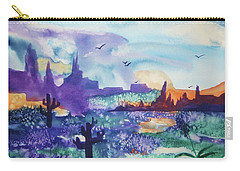 Carry-all Pouch featuring the painting Tranquility II by Ellen Levinson