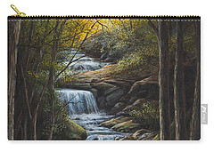 Carry-all Pouch featuring the painting Tranquility by Kim Lockman