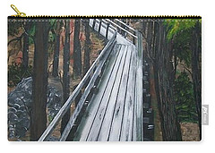 Carry-all Pouch featuring the painting Tranquility Trail by Sharon Duguay