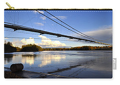 Carry-all Pouch featuring the photograph Transalaska Pipeline Bridge by Cathy Mahnke