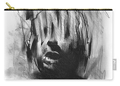 Carry-all Pouch featuring the drawing Gaza Trauma by Paul Davenport
