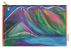 Carry-all Pouch featuring the painting Travelers Mountains By Jrr by First Star Art