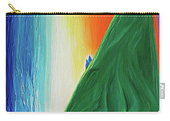 Carry-all Pouch featuring the painting Travelers Rainbow Waterfall By Jrr by First Star Art