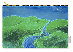 Carry-all Pouch featuring the painting Travelers Upstream By Jrr by First Star Art