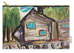 Carry-all Pouch featuring the painting Traveling Through The Wilderness by Mary Carol Williams