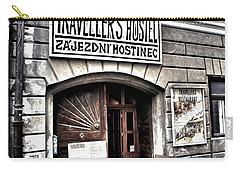 Carry-all Pouch featuring the photograph Travellers Hostel - Cesky Krumlov by Juergen Weiss