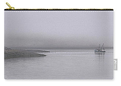 Carry-all Pouch featuring the photograph Trawler In Fog by Marty Saccone