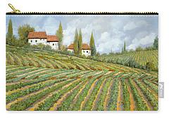 Tre Case Bianche Nella Vigna Carry-all Pouch by Guido Borelli