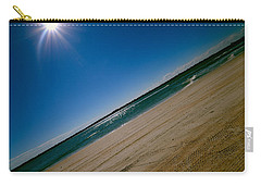 Carry-all Pouch featuring the photograph Treads In The Sand by DigiArt Diaries by Vicky B Fuller