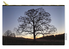 Carry-all Pouch featuring the photograph Tree At Dawn by Michael Porchik