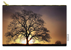 Tree At Sunrise In The Fog Carry-all Pouch