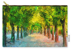 Tree Avenue In The Vienna Augarten Carry-all Pouch by Menega Sabidussi