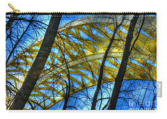 Carry-all Pouch featuring the photograph Tree Bridge Designs by Mel Steinhauer
