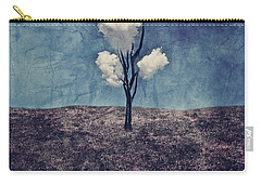 Carry-all Pouch featuring the digital art Tree Clouds 01d2 by Aimelle