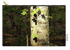 Tree In The Woods Carry-all Pouch by Pamela Critchlow