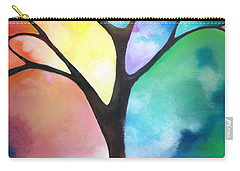 Original Art Abstract Art Acrylic Painting Tree Of Light By Sally Trace Fine Art Carry-all Pouch