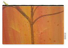 Carry-all Pouch featuring the painting Tree Of Three Coral by Robin Maria Pedrero