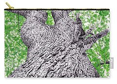 Tree Pen Drawing 4 Carry-all Pouch