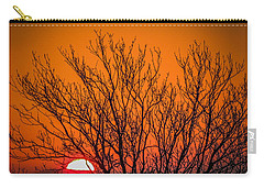 Tree Silhouetted By Irish Sunrise Carry-all Pouch