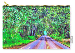 Tree Tunnel Kauai Carry-all Pouch by Dominic Piperata