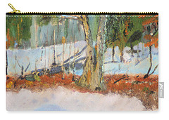 Trees And Snow Plein Air Carry-all Pouch