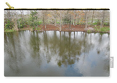 Carry-all Pouch featuring the photograph Trees And Water by Ron Davidson