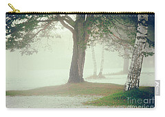 Carry-all Pouch featuring the photograph Trees In Fog by Silvia Ganora