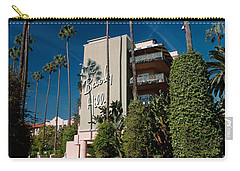 Trees In Front Of A Hotel, Beverly Carry-all Pouch by Panoramic Images