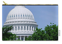 Trees In Spring And U.s. Capitol Dome Carry-all Pouch
