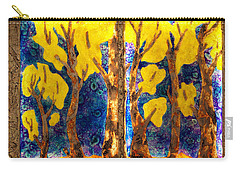 Trees Inside A Window Carry-all Pouch