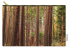Trees Of Yosemite Carry-all Pouch by Muhie Kanawati