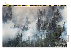 Beaver Fire Trees Swimming In Smoke Carry-all Pouch by Bill Gabbert