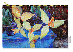 Carry-all Pouch featuring the painting Triangular Blossom by Xueling Zou
